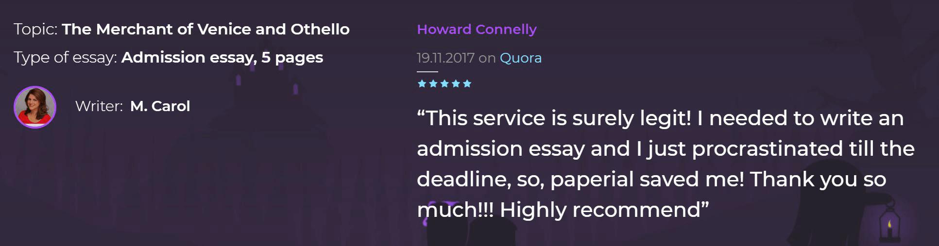feedback paperial