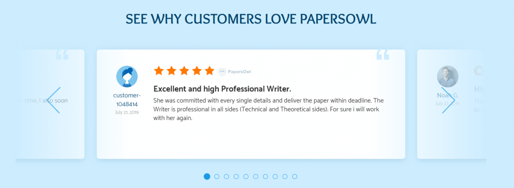 PapersOwl Customer Review